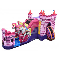 Princess Carriage With Horses Bouncy Castle