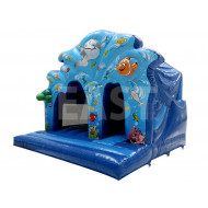 Commercial Bounce House With Slide
